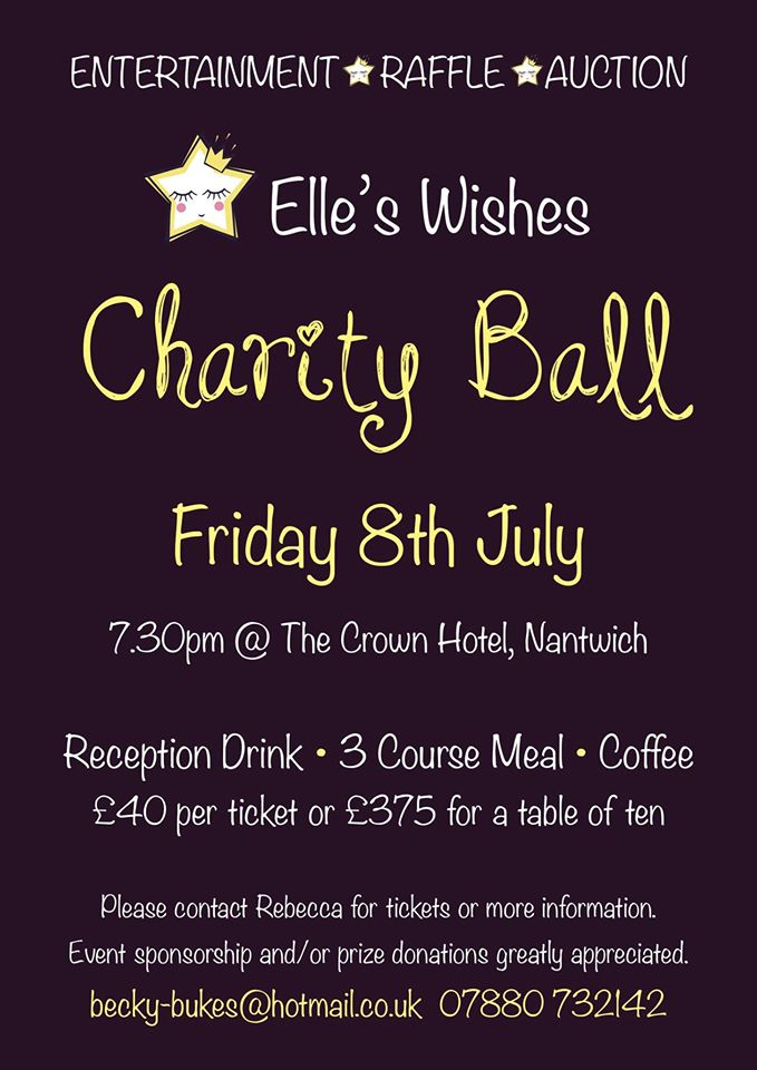 Elle's Wishes Charity Ball – Friday 8th July